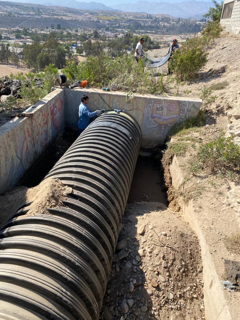 Junta de Vigilancia de la Cuenca del río Huasco invierte en obras de entubamiento en el canal Gallo y Ferrera