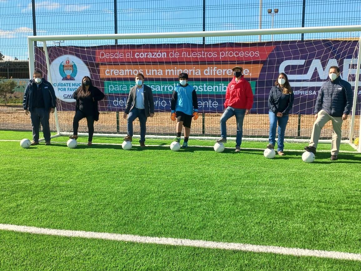 CMP renueva principal recinto deportivo y social de Maitencillo en Freirina