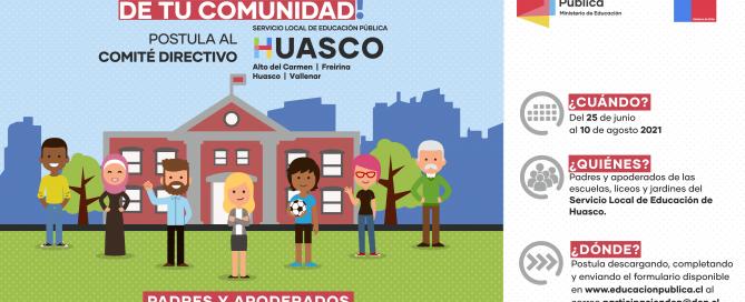 Abren convocatoria para elección de segundo representante de Madres, Padres y Apoderados del Comité Directivo Local del Servicio Local Huasco