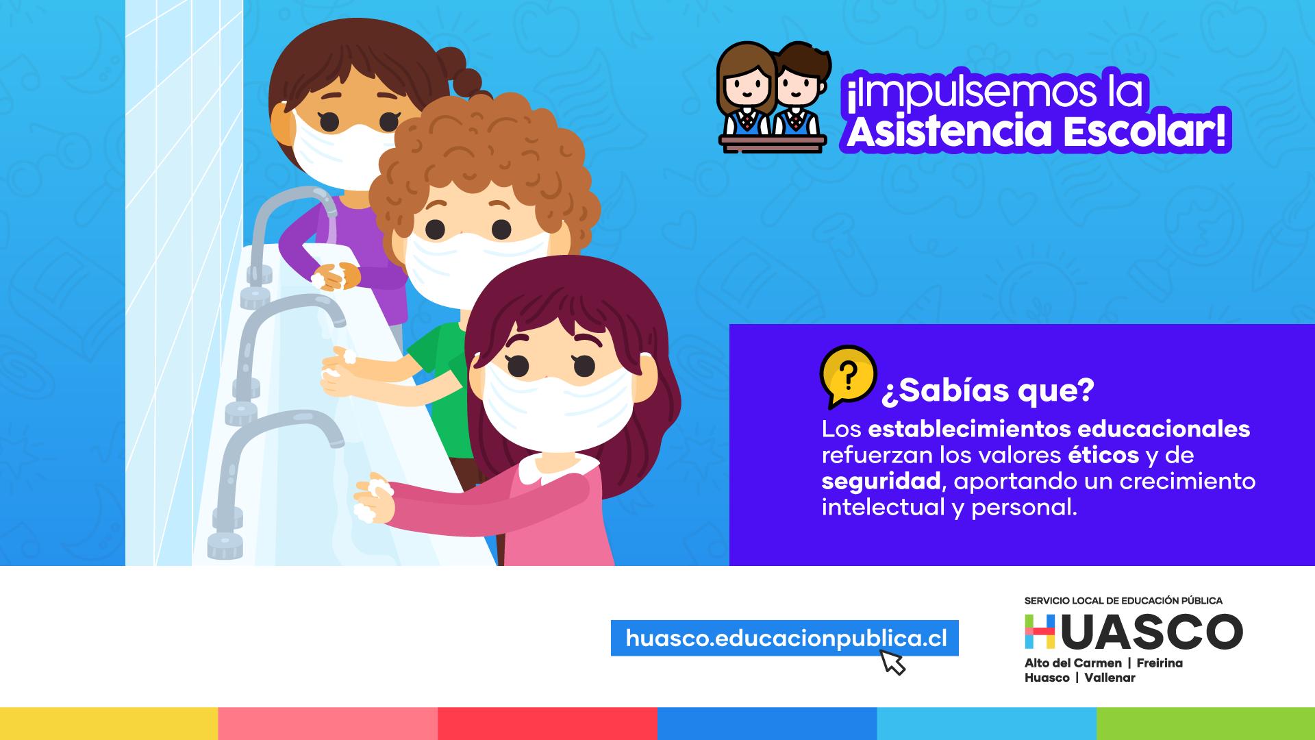 SLEP Huasco lanza campaña para promover la asistencia presencial en los establecimientos del territorio