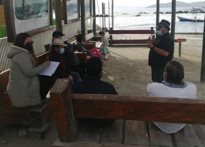 Fiscalía se reunió con comunidad y dirigentes sociales de caleta Chañaral de Aceituno