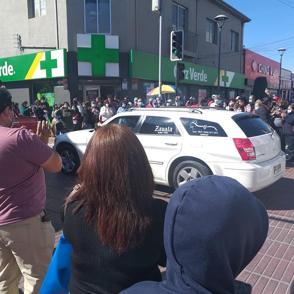 Vallenar salió a la calle a despedir a Jaime Prado Ardiles