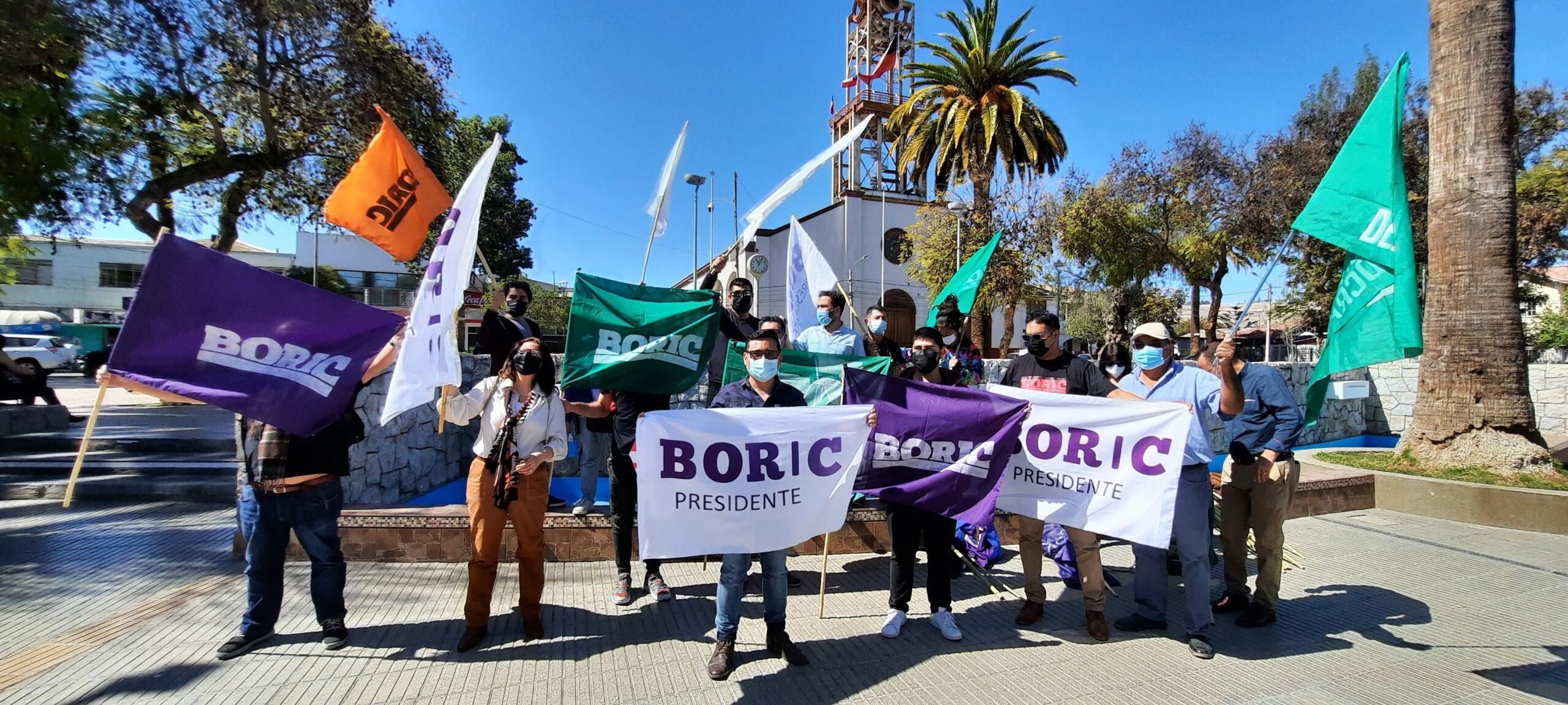 Lanzan comando por Gabriel Boric de la Provincia del Huasco en la ciudad de Vallenar