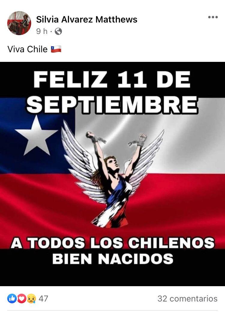 """Piden renuncia de seremi de Educación ante llamado a """"celebrar 11 de septiembre a chilenos bien nacidos"""""""