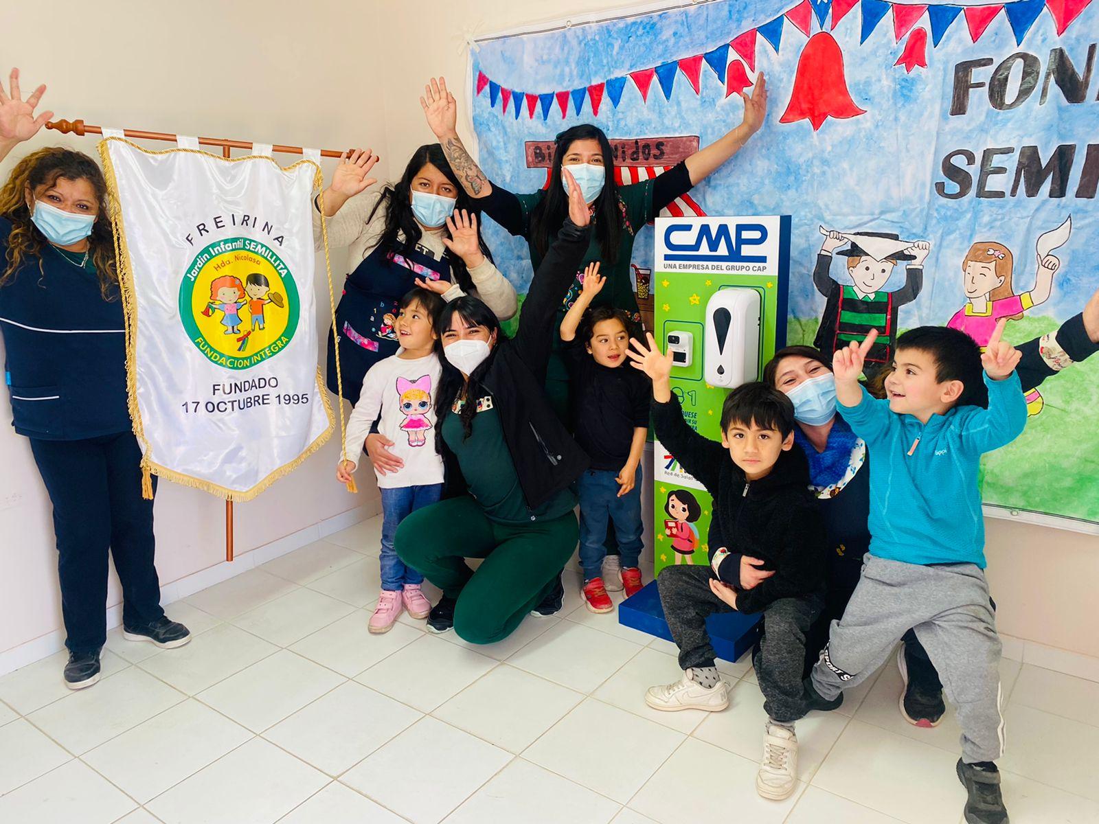 CMP entrega tótems sanitarios a jardines infantiles de Integra en la provincia de Huasco
