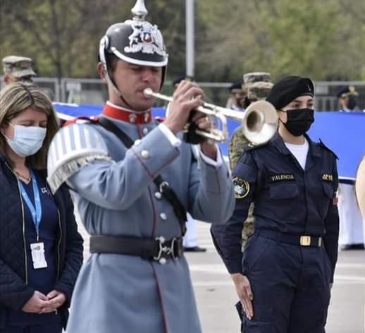 Jóvenes de Freirina se lucieron en parada militar 2021