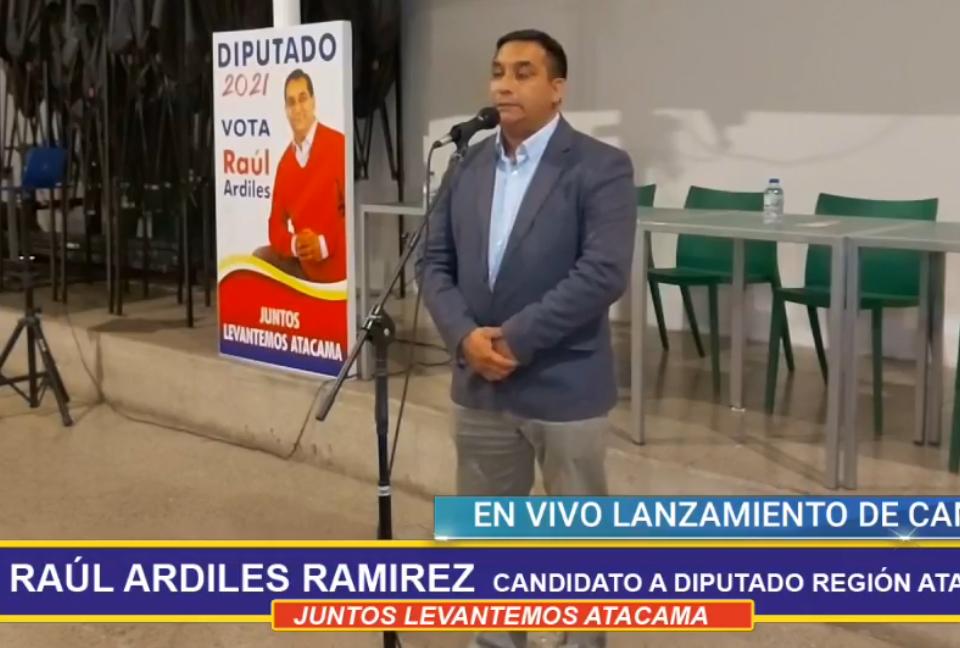 Raúl Ardiles presenta su candidatura a diputado por Atacama