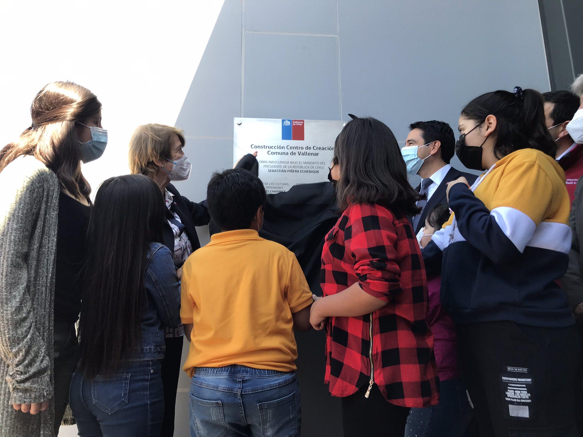 Ministra Valdés inaugura moderno Centro de Creación Artística para niños, niñas y jóvenes en Vallenar