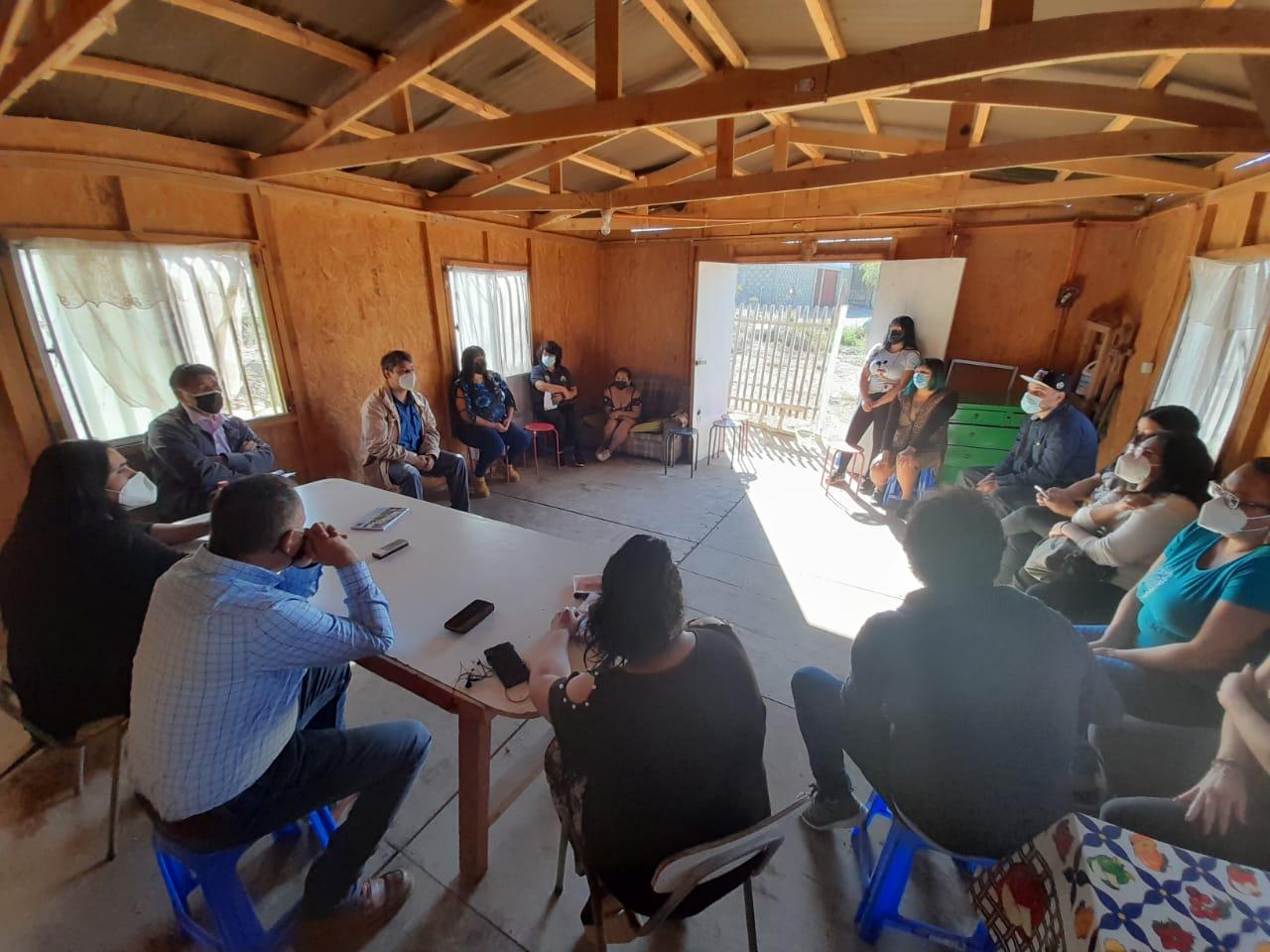Se anuncia proyecto de habitabilidad para el campamento más allá de la cordillera
